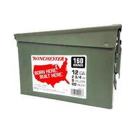 "Winchester Born Here. Built Here. 12 GA 2-3/4"" 9 Pellet #00 Buckshot Ammo Can (160)"