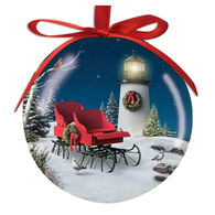 Cape Shore Spliced Ball Lighthouse Sleigh Ornament