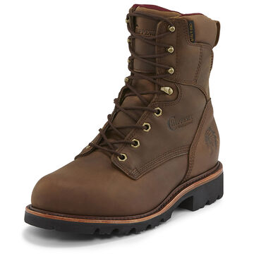 Chippewa Mens Limited Edition 8 Crazy Horse Leather Super Logger Insulated Soft Toe Work Boot