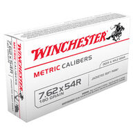 Winchester 7.62x54R 180 Grain Metric Caliber Jacketed Soft Point Rifle Ammo (20)