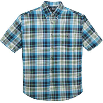 Canyon Guide Outfitters Mens Woven Plaid Short-Sleeve Shirt