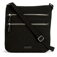 Vera Bradley Microfiber Iconic Triple Zip Hipster Bag