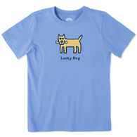 Life is Good Boy's Lucky Dog Vintage Crusher Short-Sleeve T-Shirt