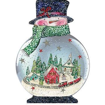 LPG Greetings Snowglobe Ornament Boxed Christmas Cards