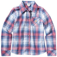 Carhartt Girl's Tartan Plaid Long-Sleeve Shirt