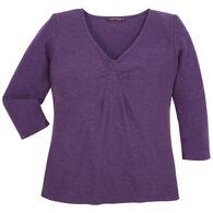 Cut Loose Women's Tuck Front 3/4-Sleeve Shirt