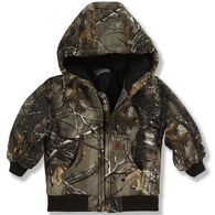 Carhartt Toddler Boys' Camo Active Jac Flannel Quilted Lined Jacket