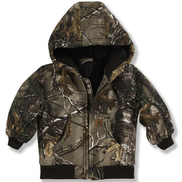 Carhartt Toddler Boys Camo Active Jac Flannel Quilted Lined Jacket