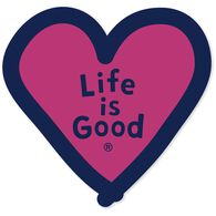 Life is Good Heart Die-Cut Sticker
