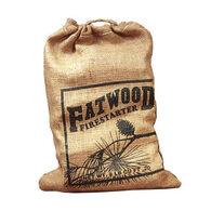 Wood Products 8-Lb. Burlap Bag Fatwood Firestarter