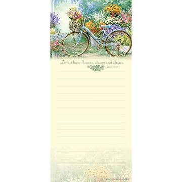 Pumpernickel Press Flower Mart Bike Magnetic List Notepad