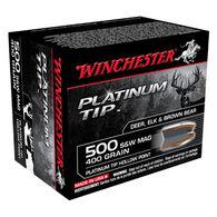 Winchester Platinum Tip 500 S&W 400 Grain HP Handgun Ammo (20)