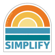 Life is Good Simplify Sunset Decal