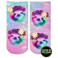 Living Royal Women's Sloth Floral Ankle Sock