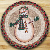 "Capitol Earth Moon & Star Snowman 10"" Round Braided Rug"