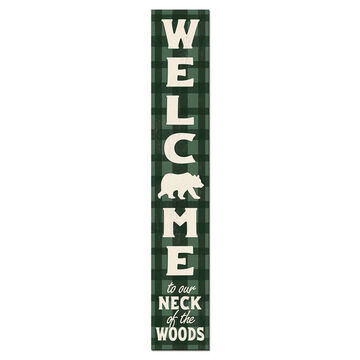 My Word! Welcome to our Neck of the Woods Porch Board