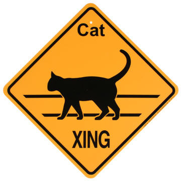 KC Creations Cat XING Sign