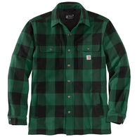 Carhartt Men's Relaxed Fit Heavyweight Flannel Sherpa-Lined Shirt Jac