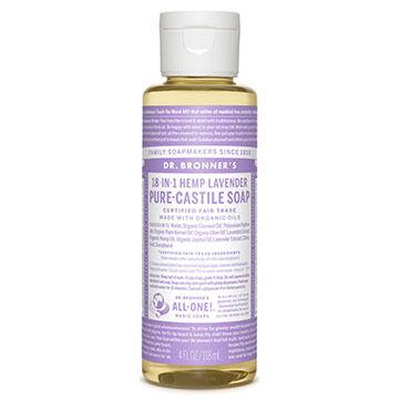 Dr. Bronner's Lavender Pure-Castile Liquid Soap - 4 oz.