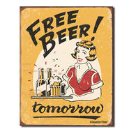 Desperate Enterprises Free Beer Tin Sign