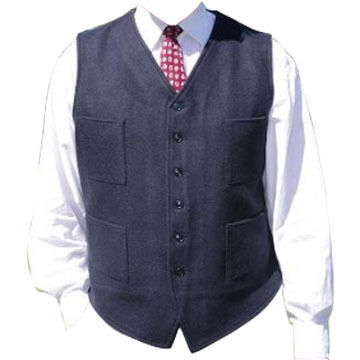 Johnson Woolen Mills Mens Button Front Vest