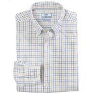Southern Tide Men's Canyon Tattersall Intercoastal Performance Sport Long-Sleeve Shirt