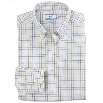 Southern Tide Mens Canyon Tattersall Intercoastal Performance Sport Long-Sleeve Shirt