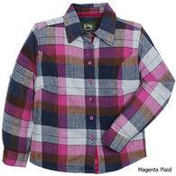 Stillwater Supply Girls' Flannel Long-Sleeve Shirt
