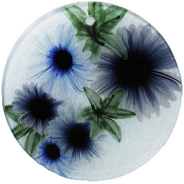 Radiant Art Blue Floral Ornament
