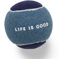 Life is Good Tennis Ball Dog Toy