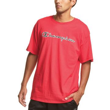 Champion Mens Classic Filled C Script Logo Short-Sleeve T-Shirt