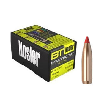 "Nosler Ballistic Tip 7mm 140 Grain .284"" Spitzer Point / Red Tip Rifle Bullet (50)"