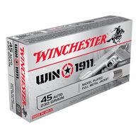 Winchester Win1911 45 Auto 230 Grain FMJ Handgun Ammo (50)