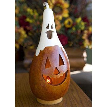 Meadowbrooke Gourds Small Tall Lit Casper Jack