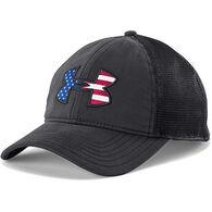 Under Armour Men's' UA Big Flag Logo Mesh Cap
