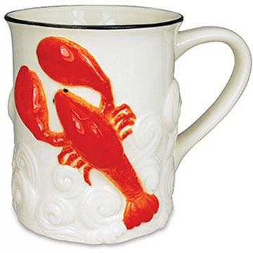 Cape Shore Embossed Lobster Sculpted Mug