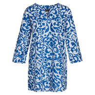 KikiSol Women's Mykonos Long-Sleeve Tunic Cover Up