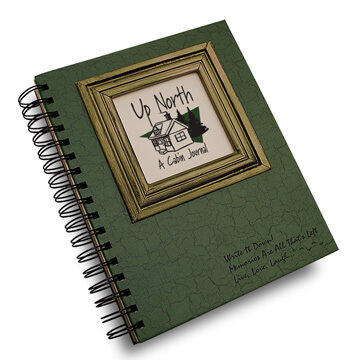 """Journals Unlimited """"Write it Down!"""" Up North Cabin Journal - Green"""