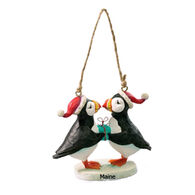 Cape Shore Kissing Puffins Ornament