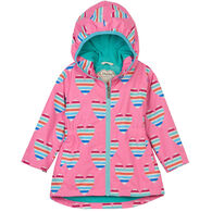 Hatley Toddler Girl's Multicolor Hearts Microfiber Rain Jacket