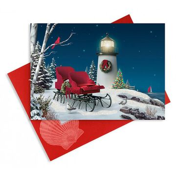 Cape Shore Oceanside Holiday Embellished Boxed Christmas Cards