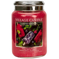Village Candle Large Glass Jar Candle - Wild Berry Freeze