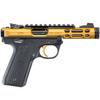 "Ruger Mark IV 22/45 Lite Gold Anodized TB 22 LR 4.4"" 10-Round Pistol"