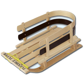 Flexible Flyer Wooden Pull Sleigh