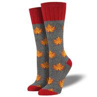 Socksmith Women's Outlands Maple Leaf Crew Sock