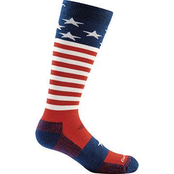 Darn Tough Vermont Boys Captain Stripes Jr. Over The Calf Light Sock