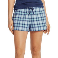 Life is Good Women's Plaid Classic Sleep Boxer Short