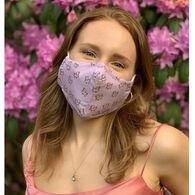 Puppie Love Men's & Women's Orchid Tie Dye Pup Face Mask