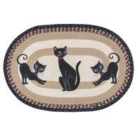 Capitol Earth Crazy Cats Oval Patch Braided Rug