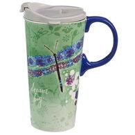 Evergreen Dream Big Ceramic Travel Cup w/ Lid